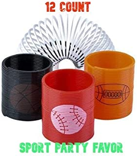 Sport Theme Party Favor Toy Assortment Pack of 12 pc, Includes a Wide Range of Mid-Size and Small Toys, Small Prizes, for Party Favor Bags, School Classrooms, and Carnivals Sport Related