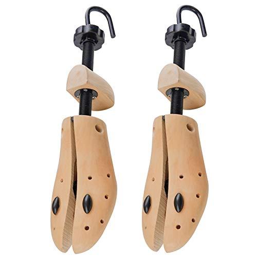 TZTED 1 Par Zapatos Hombre Mujer,Horma Madera Natural para Ensanchar Zapatos, Justable Longitud y Anchura,Natural,S(35~40)