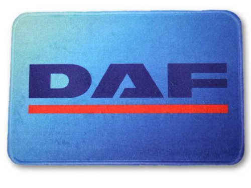 Fußmatte mit Logo DAF, 60x40cm Waschbar Feines Velours Universell einsetzbar | LKW-Fußmatte, Teppich zur Innenausstattung | Schmutzfänger für LKW, PKW und Wohnung | Universal Auto-Matte, Autofußmatte als Zubehör fürs Truck-Fahrerhaus
