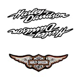 Adhesivos retroreflectantes para casco de moto Harley Davidson Pack centenario (3 pegatinas)
