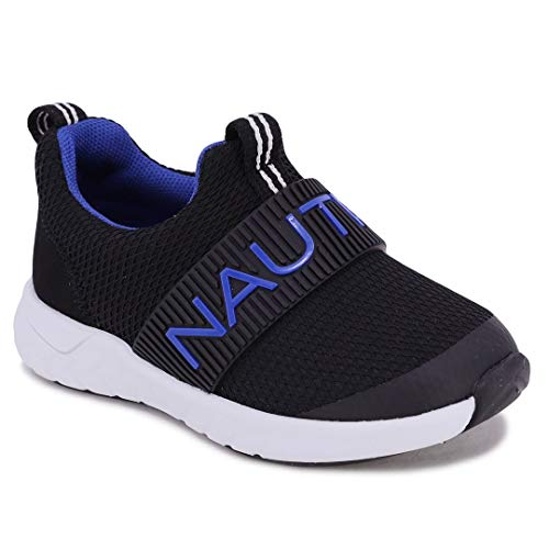 Nautica Kids Boys Fashion Sneaker Slip-On Athletic Running Shoe for Toddler and Little Kids-Yanlong Toddler-Black Blue-6