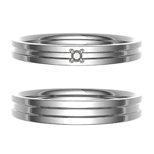 [ココカル]cococaru ペアリング 結婚指輪 プラチナ Pt900 2本セット マリッジリング ダイヤモンド 日本製(レディースサイズ7号 メンズサイズ1号)