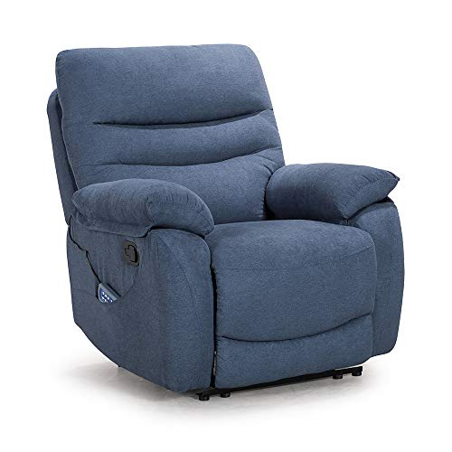 Recliner Chair Ergonomic Lounge Chair Comfy Recliner Sofa for Living Room Home Theater Seating Oversized Soft Sofa Lazy Boy Recliner Sleep Chair Reclining Heated Full Body Massage Chair,Blue