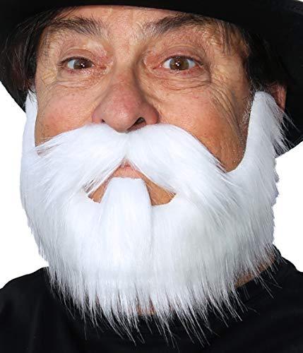 Hipster Beard Costume, Fake Costume Beard with Self Adhesive False Facial Hair White