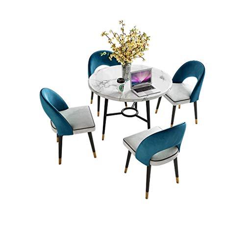 Tisch Und Stuhl Marmor Cafe Runder Tisch Büro Konferenztisch Sofasitz Stuhl-Sets Esszimmer Westliches Restaurant Balkon Wohnzimmer Zuhause Küche...