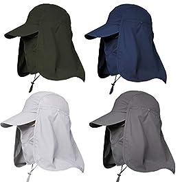 Jormatt Chapeau de Soleil pour Femme et Homme Protection UV Protection de la pêche Randonnée Casquette avec Rabat pour…