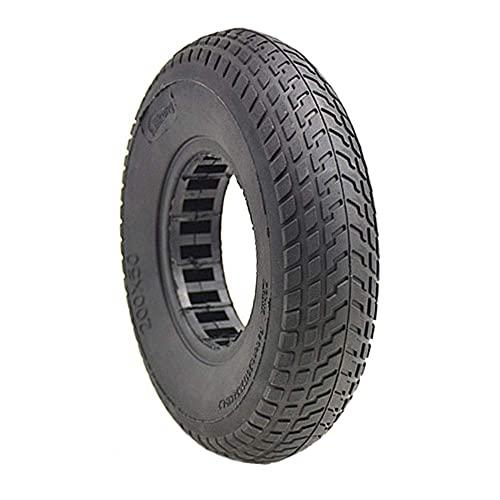 HTZ-M Neumáticos para Scooter eléctrico, 200 x 50 neumáticos elásticos Huecos no inflables, absorción de Golpes Antideslizante Resistente al Desgaste, Accesorios para Scooter de 8 Pulgadas, Negro