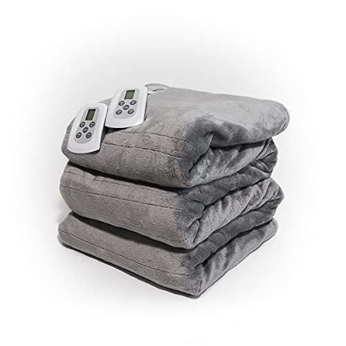 Westerly Queen Size Microlight Electric Heated Blanket with Dual...