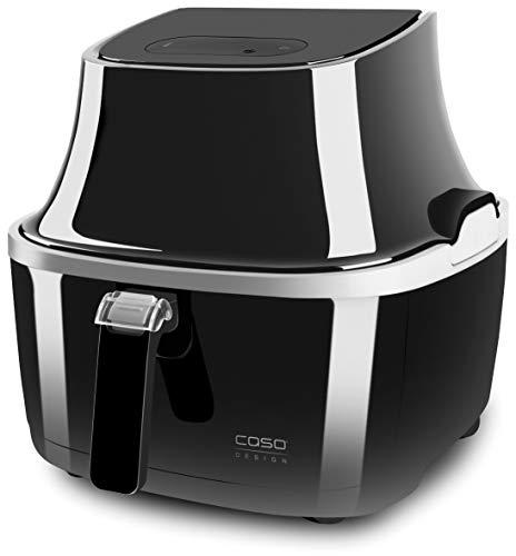 Caso 03177 AF 400 - Friggitrice ad aria calda, 3,2 l, cestello grande per 1 kg, 60-200°C, potenza 2050 W, friggitrice più sana, interno in acciaio inox, 3,2 litri, colore: Nero