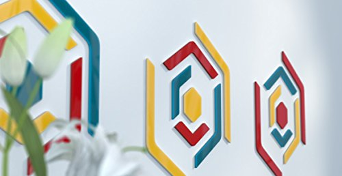 www.deco-julie.fr Deko Wand Design originelle Blaue Ente und Dunkelgrau Jaune | Bleu Canard | Rouge