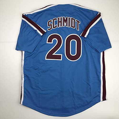 Unsigned Mike Schmidt Philadelphia Retro Blue Custom Stitched Baseball Jersey Size Men's XL New No Brands/Logos