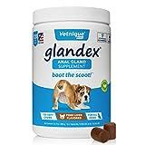 Glandex Anal Gland Pumpkin para Perros 120 Quilates masticables con enzimas digestivas, suplemento de Fibra probiótica para Perros (hígado de Cerdo) - by Vetnique Labs