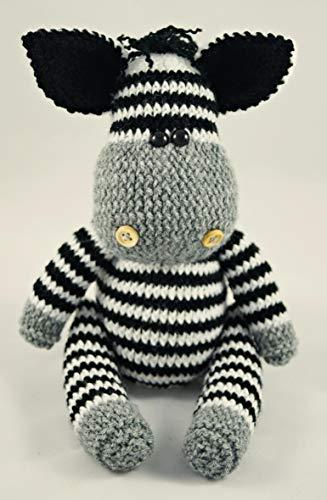 Zebra handgestricktes Spielzeug Gestricktes Stofftier Gestricktes Spielzeug für Kinder Neues Babygeschenk Geschenk für die Babyparty Waldorfspielzeug Wildes Tierspielzeug