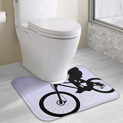 Mountain Bike U-Shaped Non Slip Absorbent Thick,Toilet Bathroom Rugs,Soft and Comfortable, Super Water Absorption
