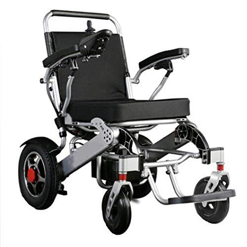 Elektrische rolstoel, licht en opvouwbaar frame, rolstoel, voor auto, draagbaar transport, reizen, chairfor, geschikt voor oudere mensen met een handicap, 12 A lithium batterij