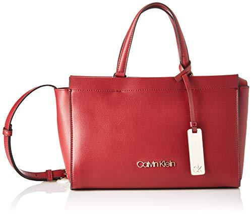Calvin Klein Enfold Med Tote - Borse a tracolla Donna, Rosso (Barn Red), 1x1x1 cm (W x H L)
