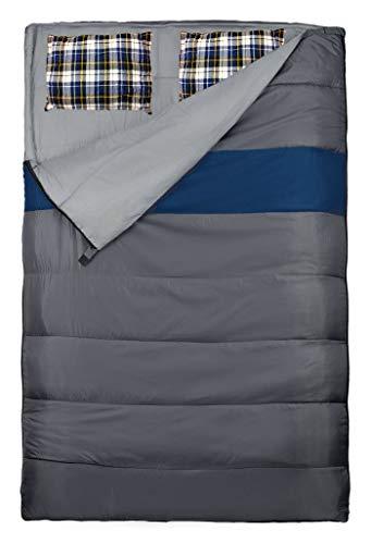 Explorer Schlafsack 220 x 150/75 cm DUO Deckenschlafsack Doppelschlafsack (auch als 2Einzelschlafsäcke nutzbar) Sommerschlafsack +/-0°C Outdoor Camping 4624, grau/blau