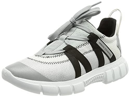 Armani Exchange Harlem New Extra Light Running, Sneaker Mujer, OP.White+Grey+Black, 35 EU
