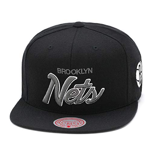 Mitchell & Ness Brooklyn Nets - Gorra de baloncesto para hombre, color negro y gris oscuro