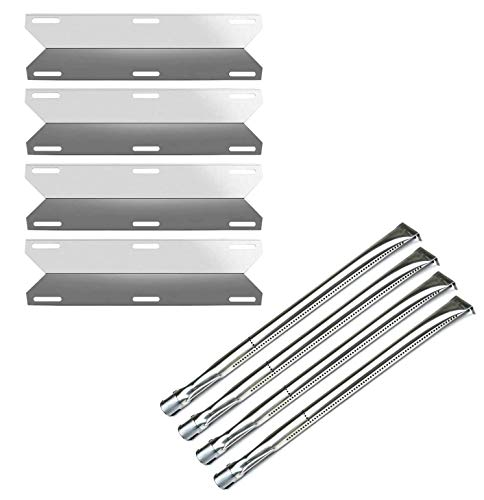 Gloryshine Stainless Steel Burner, Heat Plate Tent, Replacement Parts for Nexgrill 720-0304, Permasteel PG-50400-S, Charmglow 720-0304 Gas Grills Grill Heat Plates