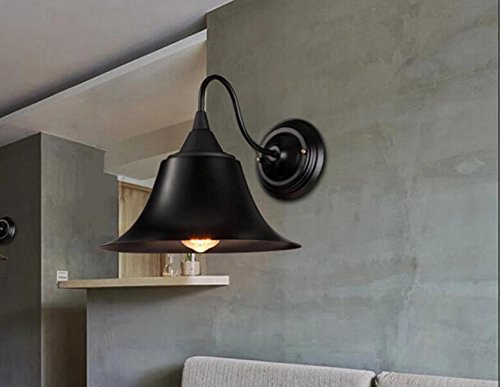 JJZHG wandlamp wandlamp 2* nachtlampje slaapkamer restaurant outdoor gang cafe luidspreker retro wandlamp omvat: wandlampen, wandlamp met leeslamp, wandlamp met stekker