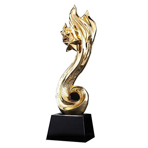 Pokale Trophäen Spiele Wettbewerb Champion Gold Trophäen Indoor Kreative Dekoration Trophäen Kostenlose Gravur (Color : Gold, Size : 8 * 8 * 28cm)