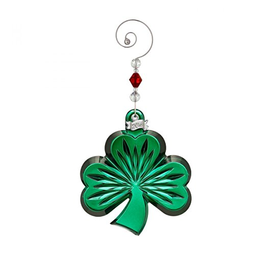 Waterford Green Shamrock Ornament