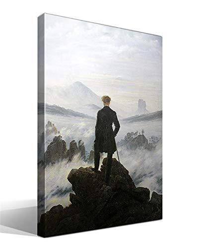 cuadrosfamosos.es Cuadro Canvas El vagabundo sobre Las nieblas de Caspar David Friedrich