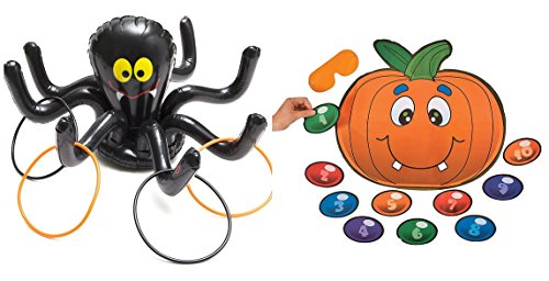 Halloween inflatable Spider ring toss game + free pin pumpkin game