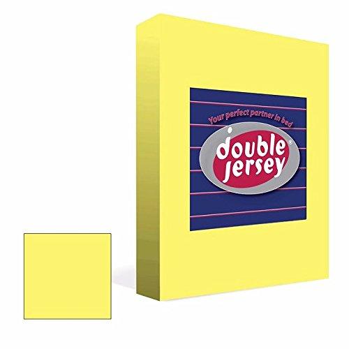 #11 Double Jersey Jersey Spannbettlaken, Spannbetttuch, Bettlaken, 160x200x30 cm, Gelb - 6