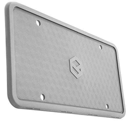 Rightcar Solutions Flawless Silicone License Plate Frame - Rust-Proof. Rattle-Proof. Weather-Proof. - Grey