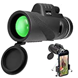 ONIKA Monocular Telescope for Smartphones - HD Dual Focus Zoom monoculars for Adults with Adapter for iPhones Samsung Android for Travel Hiking Hunting Camping Sports Wildlife Birdwatching Concerts