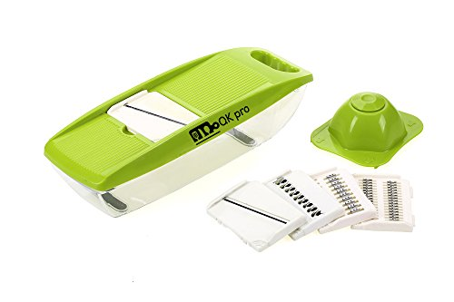 Mandoline Slicer Vegetable Fruits Slicer Cutter Chopper Peeler 5 Interchangeable Blades Hand Guard Food Slicer for Cucumber Onion Cheese Potato Julienne Slicer Veggie Slicer Adjustable Mandoline