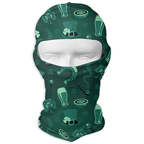 Vidmkeo Shamrock Top Hat Beer Gold Coin Smoke Full Face Mask Sun Dust Wind Protection Durable Breathable Seamless Face Mask Bandana Multicolor12