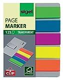 SIGEL HN610 Haftmarker auf Karte mit Klemmfunktion, 125 Mini-Streifen im Format 12 x 50 mm, 5 Farben - weitere Modelle
