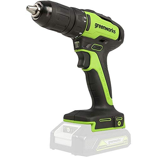 Greenworks cordless and drill screwdriver GD24DD35 (Li-Ion 24V 35 N.m torque 1450 rpm 13mm shaft diameter powerful brushless motor without battery and charger)