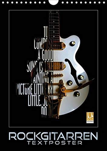 Rockgitarren Textposter (Wandkalender 2020 DIN A4 hoch): Elektrische Gitarrenschönheiten als beeindruckende