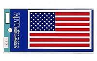 2枚セット アメリカ国旗ステッカーMサイズ376