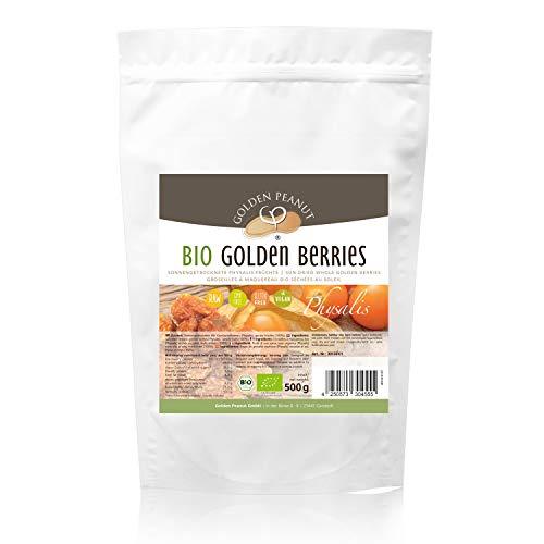 Bio Physalis ganze Beeren getrocknet 500 g Beutel Kapstachelbeere Golden Berrie