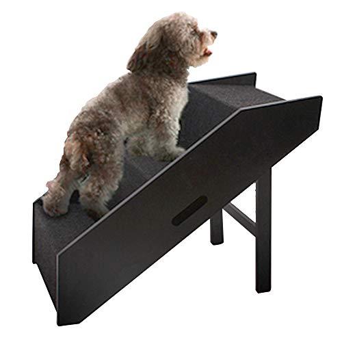 3 stappen opvouwbare huisdierentrap - Houten dierenhelling voor honden/katten, Lichtgewicht huisdierenladder voor Home Sofa/Bed