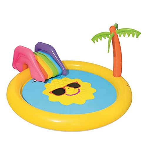 gaoweipeng Piscina Hinchable Infantil Portátil Piscina Inflable con Tobogan Piscina Infantil con Rociador Centro De Juegos Hinchable Agua para Adultos Niños Se Reúnan Atio Exterior 237X201x104cm