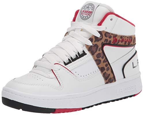 Skechers Women's Street L.A. Gear-CRUILTY Free Sneaker, White/Leopard
