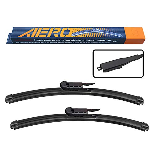 AERO Avenger 28'+28' I&L Pinch Tab Premium All-Season Beam Windshield Wiper Blades OEM Replacement for Ford Edge Escape Focus (Set of 2)