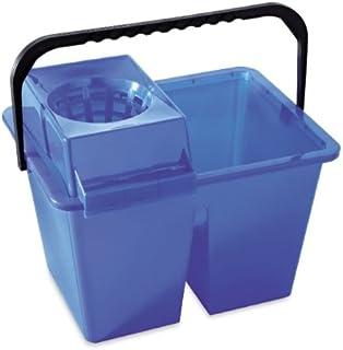 Homexpert V460515 Seau Double 14 L, Plastique, Bleu, 40x30x30 cm