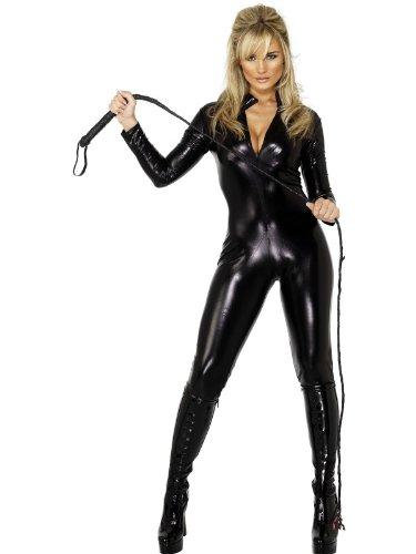 Smiffys Costume Fever da donna con frusta, con abito con zip