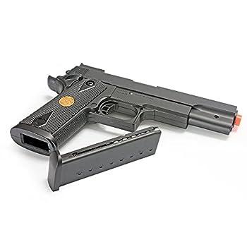BBTac Airsoft Pistol Handgun Government .45 1911 Spring Loaded Gun  Black