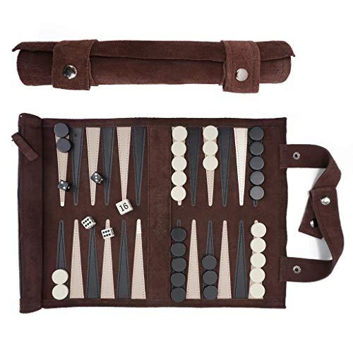 SONDERGUT- Backgammon - Backgammon en cuir véritable - Backg