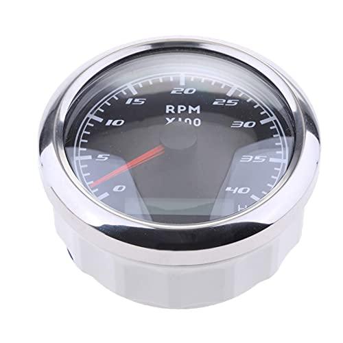Accesorios RPM Tacómetro LCD para Tacho Horas 04000 RPM 85mm No es fácil de dañar