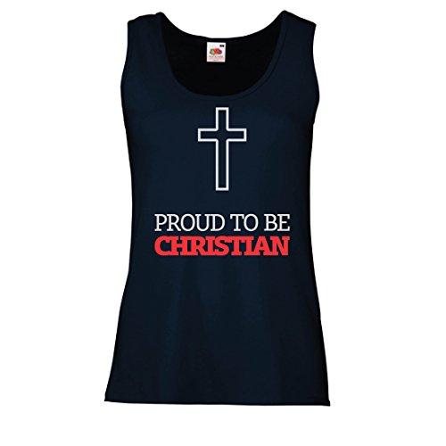 Camisetas sin Mangas para Mujer ¡Orgulloso de ser Cristiano! Dios Nos