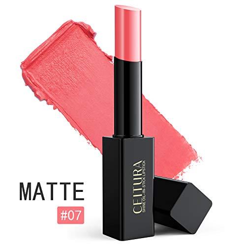 Barra De Labios Mate Permanente De Pintalabios Impermeable Natural Brillo De Labios 002 Desnudo Coral Rosa